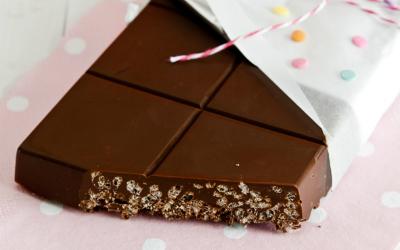 turron casero de chocolate